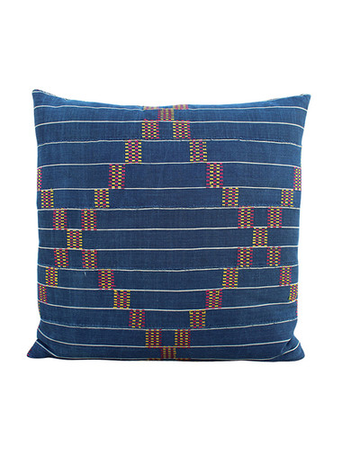 19th Century African Indigo Textile Pillow 31398