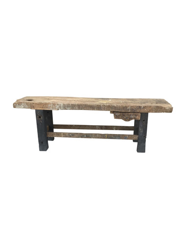 Belgian Industrial Wood Console 34369