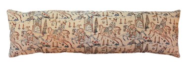 Antique Persian Textile Large Lumbar Pillow 31495