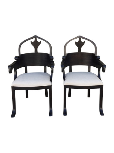 Pair of Lucca Studio Christine Armchairs 34381