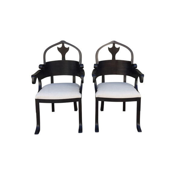 Pair of Lucca Studio Christine Armchairs 35347