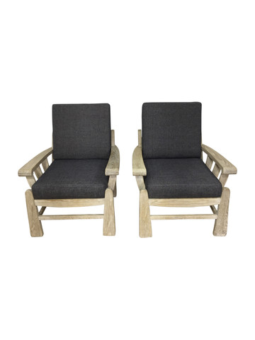 Pair of Lucca Studio Monte Arm Chairs 37264