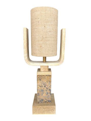 Limited Edition Oak and Stone Lamp 35900