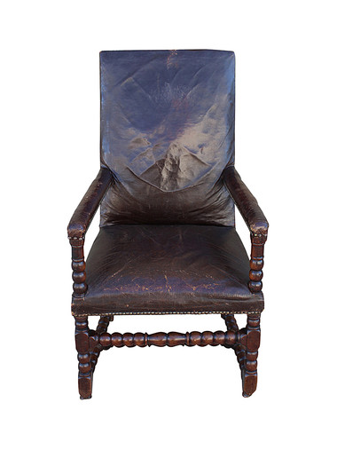 19th Century Leather Arm Chair 29924