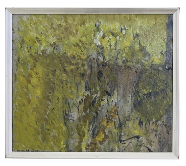 Vintage Swedish Abstract Painting 24753