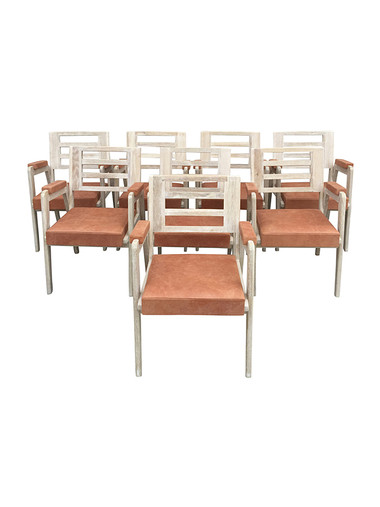 (8) Lucca Studio Palmer Dining Chairs 33482