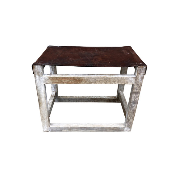 Limited Edition Vintage Leather Stool 35325
