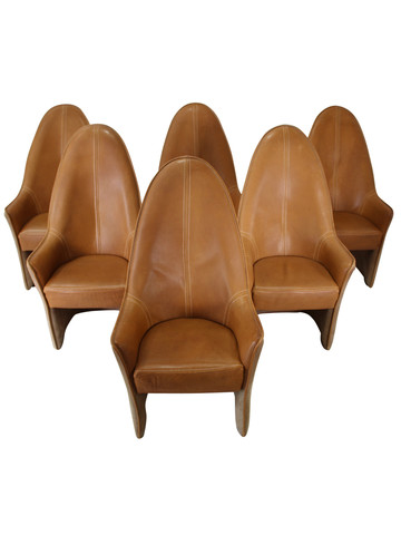 Set of 6 DeSede Leather Dining Chairs 29967