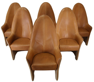 Set of 6 DeSede Leather Dining Chairs 35605