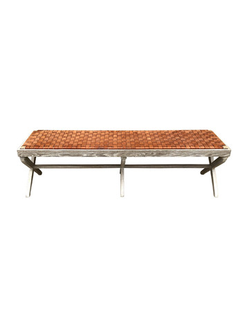 Sadie Bench (Brown Leather) 35028