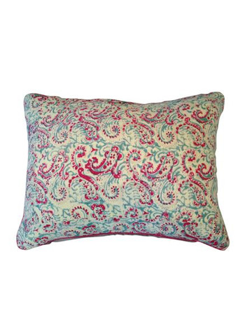 Yellow & Red Paisley Pillow 5590
