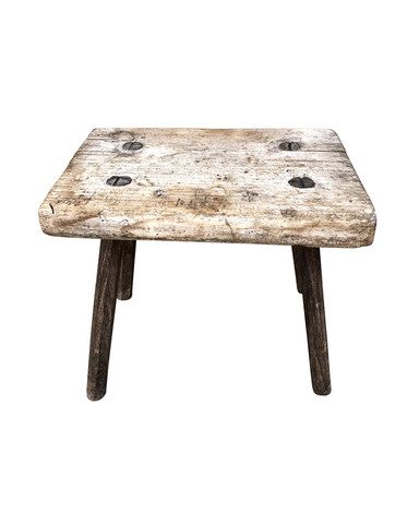 Primitive Antique Swedish Stool 34667