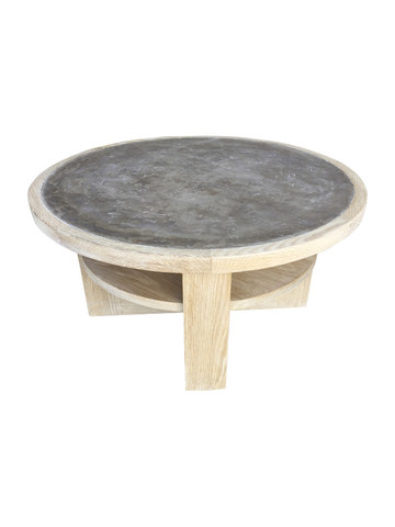 Lucca Studio Dubin Oak and Cement Top Coffee Table 36071