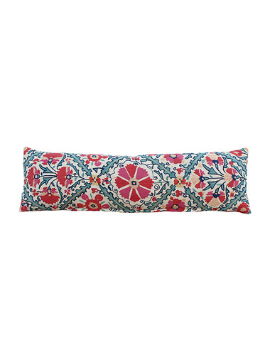 18th Century Turkish Embroidery Lumbar Pillow 31494