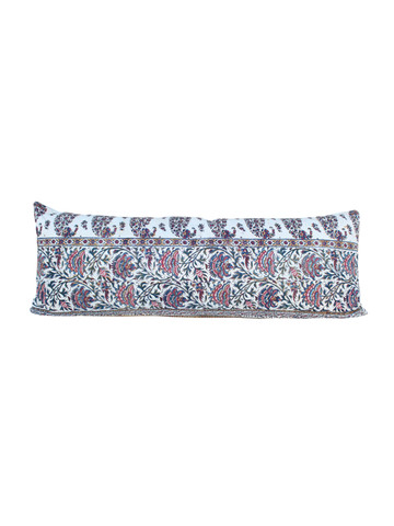 French Wood Block Print Pillow 26498