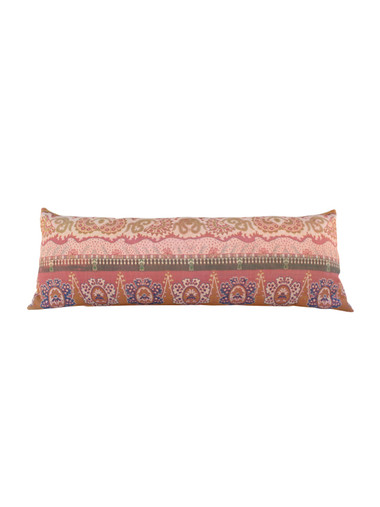 Large 19th Century French Textile Lumbar Pillow 26571
