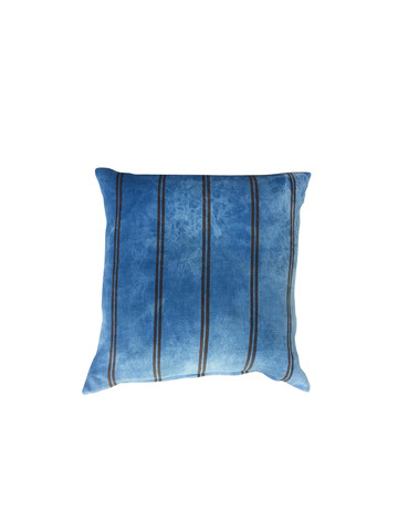 Vintage Striped Indigo Textile Pillow 35927