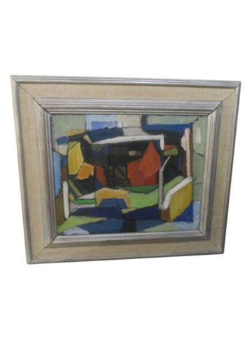 Mid Century Abstract  Painting 34105