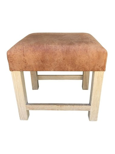 Belgian Leather Stool 31655