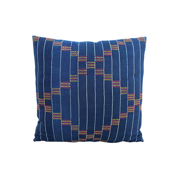 19th Century African Indigo Textile Pillow 31152