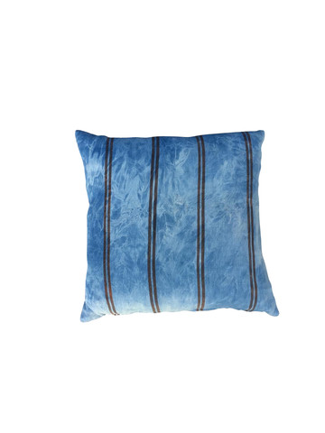 Vintage Striped Indigo Textile Pillow 35926