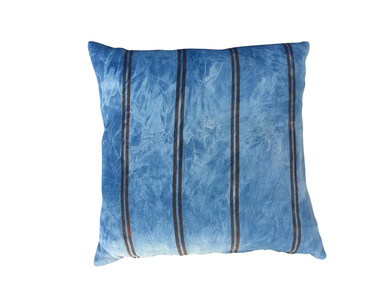 Vintage Striped Indigo Textile Pillow 31283