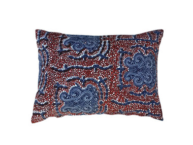 Vintage Block Print Textile Pillow 19930