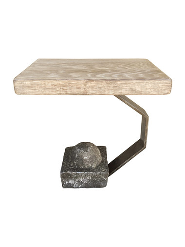 Limited Edition Oak Top Side Table 34761