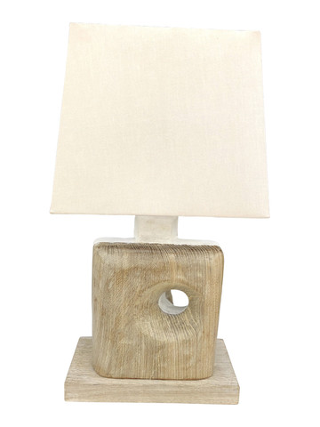 Limited Edition Oak and Plaster Lamp 35529