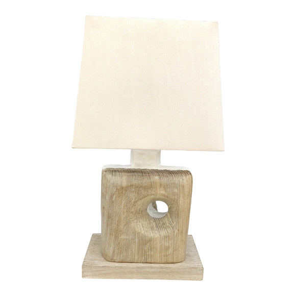 Limited Edition Oak and Plaster Lamp 35051