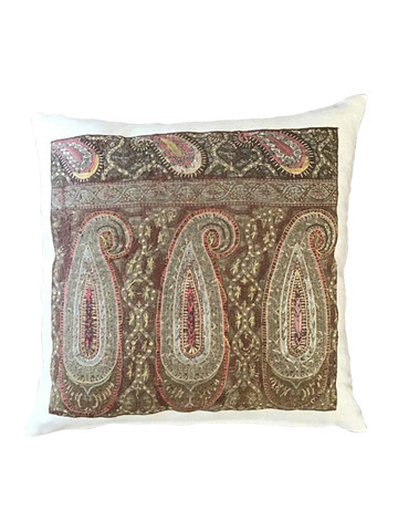 Exceptional 18th Century Embroidery Textile Pillow 34824