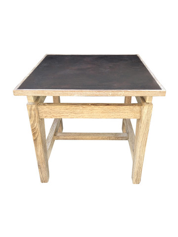 Limited Edition Oak and Industrial Element Side Table 33530