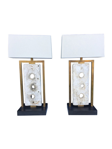 Pair of Limited Edition Industrial Element Lamps 32595