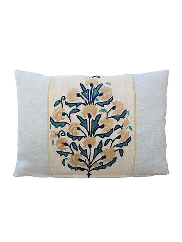 18th Century Turkish Embroidery  Textile Pillow 28549