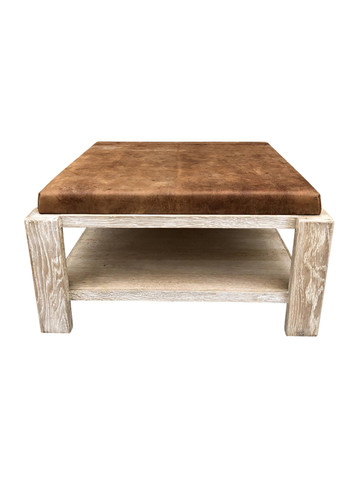 Limited Edition Oak and Leather Coffee Table 36152