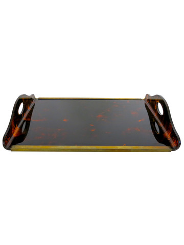 French Faux Tortoise Tray 30643