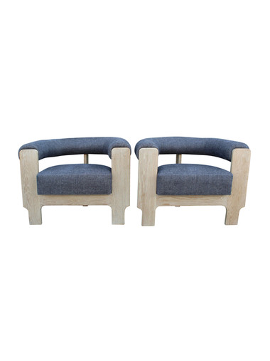 Pair of Mid Century Oak Arm Chairs 28067
