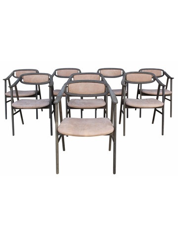 Set of (8) Lucca Studio Neve Dining Chairs 35134
