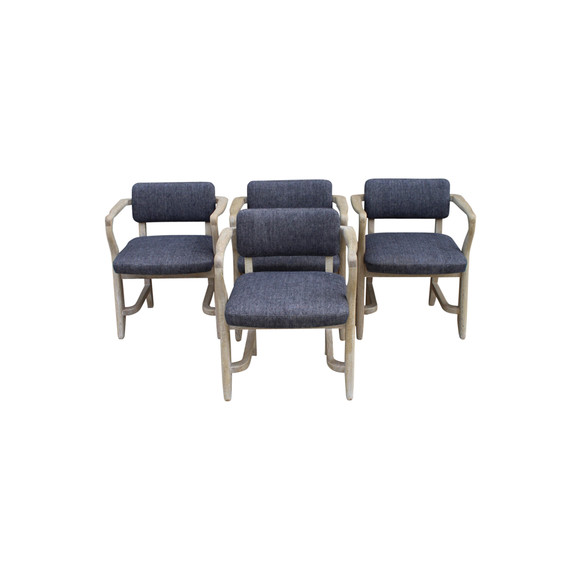 Set of (4) Guillerme et Chambron Armchairs 25766
