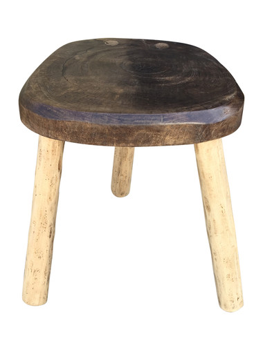 Primitive French Wood Stool/ Table 36576