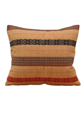 Vintage Indonesian Embroidery Textile Pillow 20585