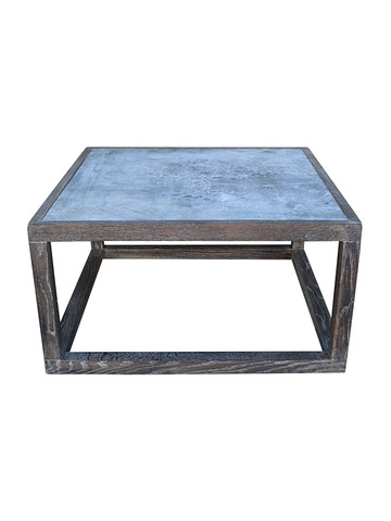 Limited Edition Oak and Zinc Coffee Table Cube 31566