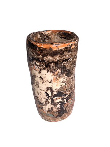 French Marbelized Ceramic Vase 24819
