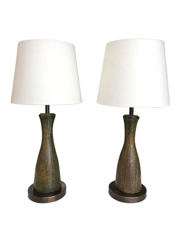 Pair of Vintage Ceramic Table Lamps 35506