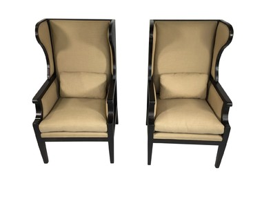 Pair of Lucca Studio Cameron Chairs 33499