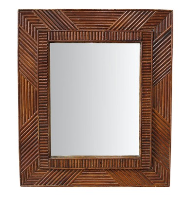 French Tramp Art Mirror 25695