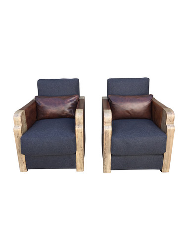 Pair of Deco Armchairs 30095