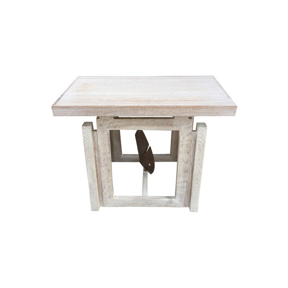 Limited Edition Oak and Bronze Side Table 33961