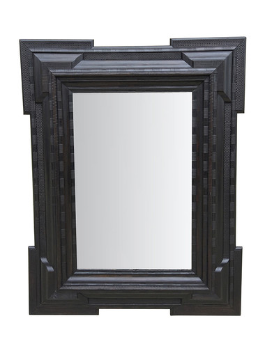Rare Large Scale 19th Century Ebonized Mirror 34984