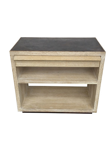 Limited Edition Oak and Leather Night Stand 34397